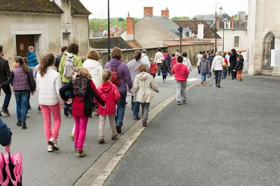 Procession vers la Basilique