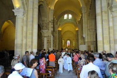 Inauguration de l'église St Amand le 5 juillet 2015 par Mgr Maillard
