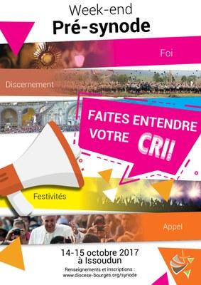 Affiche pré-synode Issoudun 14-15 octobre 2017 - recto