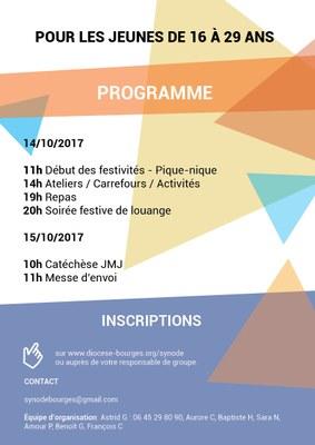 Affiche pré-synode Issoudun 14-15 octobre 2017 - verso